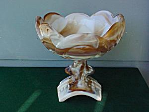Imperial Caramel Slag Saddle Compote (Image1)