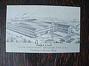 Imperial Glass Bellaire, Ohio Postcard