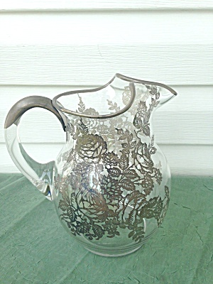 Imperial 80 Oz.pitcher Silver Overlay