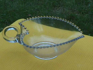 "LOVELY, CANDLEWICK 9"" HANDLED HEART BOWL (Image1)"