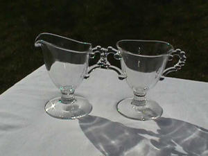 CANDLEWICK 2 PC SUGAR & CREAM SET(400/31) (Image1)
