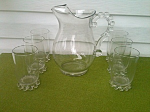 7 Pc. Imperial Candlewick Water Set