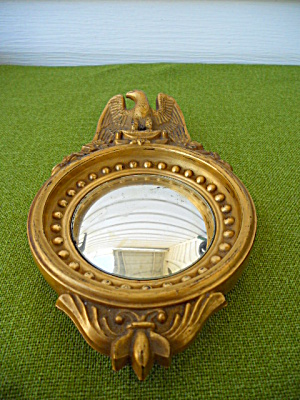 Imperial Candlewick Gold Eagle Mirror (Image1)