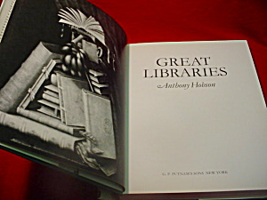 Great Libraries Anthony Hobson