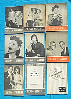 1940's Chicago Stagebill Programs 21 Issues