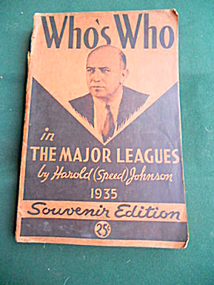 Who's Who In Major League Baseball 1935 Book