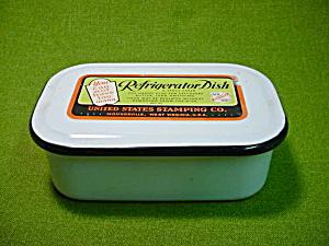 US Stamping Moundsville WV Refrigeration Dish (Image1)
