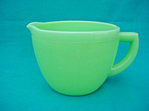 McKee 2 Cup Jadite Pitcher (Image1)
