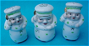 1950's 4 Pc. Chef Porcelain Condiment Set (Image1)