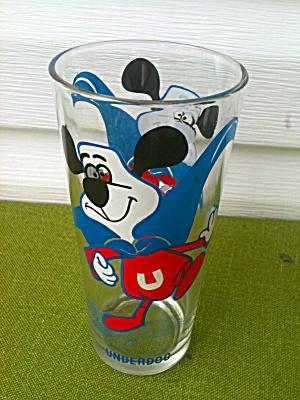 1970's UNDERDOG Pepsi Promo Glass (Image1)