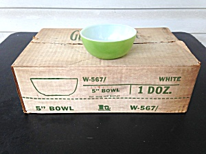 Brockway Glass Green Cereal Bowls 1 Dz.  (Image1)