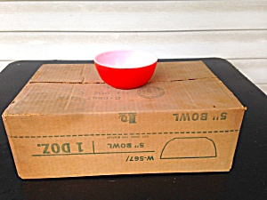 Brockway Glass Red Cereal Bowls 1 Dz.  (Image1)