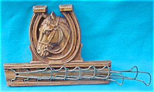 1950's Horse Head/Horseshoe Tie Rack (Image1)