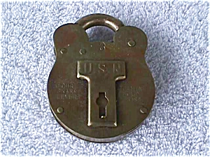 USN Brass Padlock (Image1)