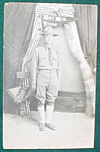 Real Photo PC WWI Solider Del Rio, TX (Image1)