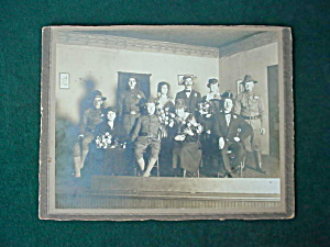 Unusual, WWI Military Wedding Photo (Image1)