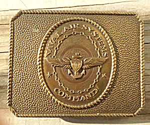 Naval Air Systems Command Brass Belt Buckle