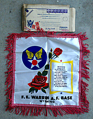 50s F.e. Warren Afb Wyoming Pillow Case Cover