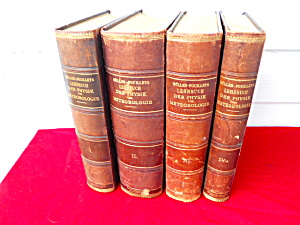 Early 1900's 4 Vol. Physics Meteorology Leop.