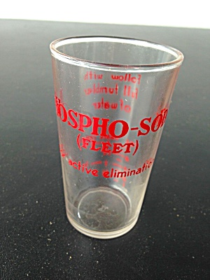 Vintage Phospho Soda Measuring Glass