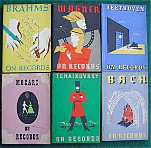 Set Of Classical Musicians On Records Books