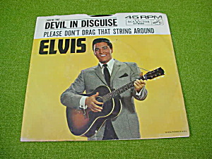 RCA Elvis 45 w/Sleeve Devil in Disguise/Pleas (Image1)