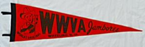 WWVA Jamboree Wheeling WV Felt Pennant (Image1)