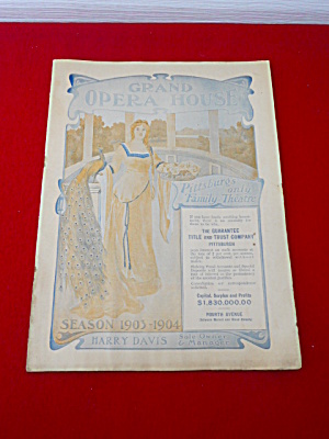 1903-04 Grand Opera House Pittsburgh Program (Image1)