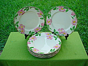 (6) Franciscan Desert Rose Dinner Plates (Image1)