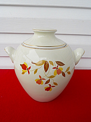 Hall Jewel Tea Handled Cookie Jar w/Lid (Image1)