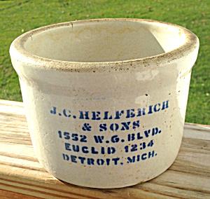 J.C. Helferick Butter Crock Detroit, Mich. (Image1)