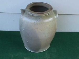 1830�s 3 Gal. L. Anderson Stoneware Crock (Image1)