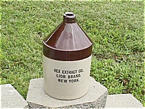 Rex Extract Co. New York Crock Jug (Image1)