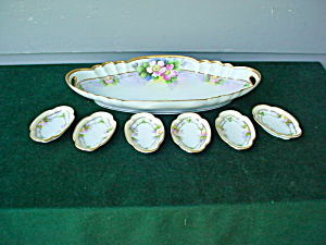 7 Pc. Noritake Floral Tray Set (Image1)