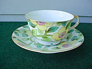 Occupied Japan Paulux Floral Cup and Saucer (Image1)