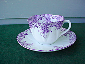 Shelley Dainty Mauve Cup & Saucer (Image1)