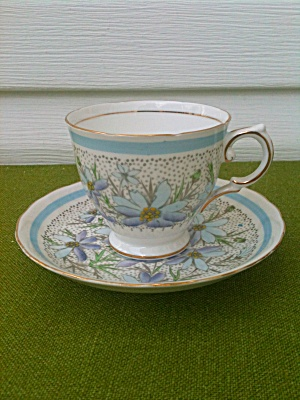 Tuscan Bone China Cup & Saucer Purple Lilac? (Image1)