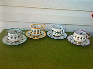 Rosina Bone China Floral Cup & Saucer Lot (Image1)