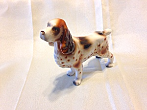 Vintage Lefton Springer Spaniel Dog Figurine (Image1)