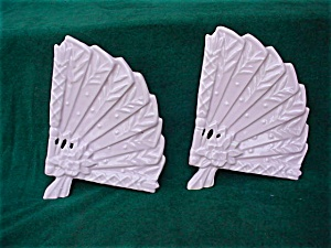 Pr. of Pink McCoy Fan Vase Wall Pockets (Image1)