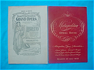 1930's Metropolitan Opera House Programs (Image1)