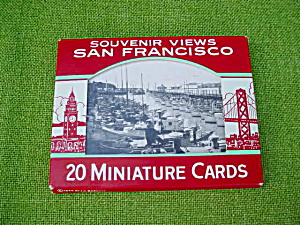 40's San Francisco Souvenir Views Mini. Cards (Image1)