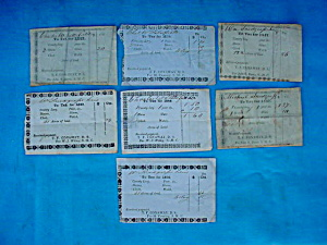 1800's Slave Tax Receipt Collection (Image1)