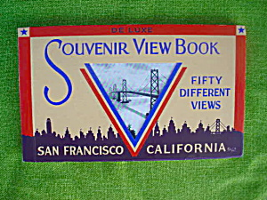 1940's Souvenir View Book San Francisco, Ca (Image1)