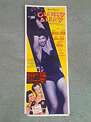Poster Glory Alley Ralph Meeker Leslie Caron  (Image1)