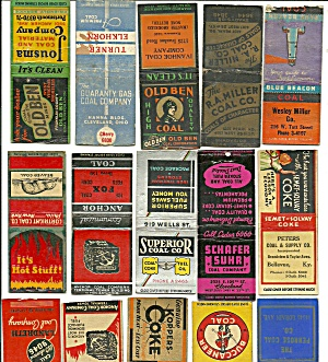 Coal Mining Advertisement Matchbook Covers (Image1)