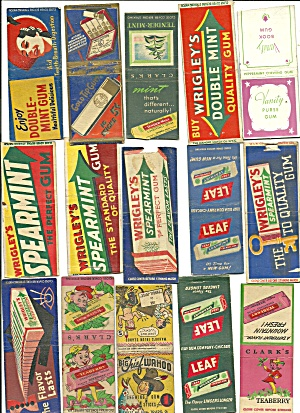 Old Gum Bubble Chewing Gum Matchbook Covers (Image1)