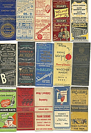 Men's Clothing, Shoes, Hats Matchbook Covers (Image1)