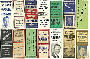 Matchbooks Ohio Political Elections