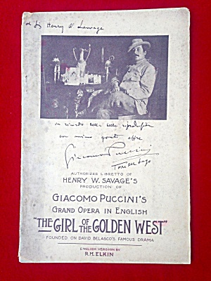 Theatre Booklet Girl of the Golden West (Image1)